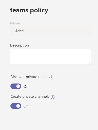Private Team Channels