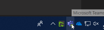 Microsoft Teams icon in the system tray